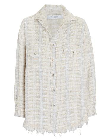 Marsh Fringed Tweed Shirt Jacket