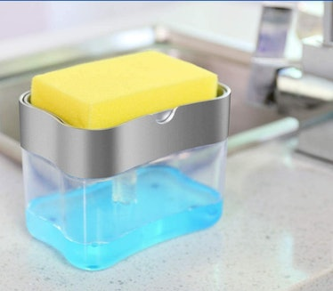 Aeakey Soap Dispensing Sponge Holder