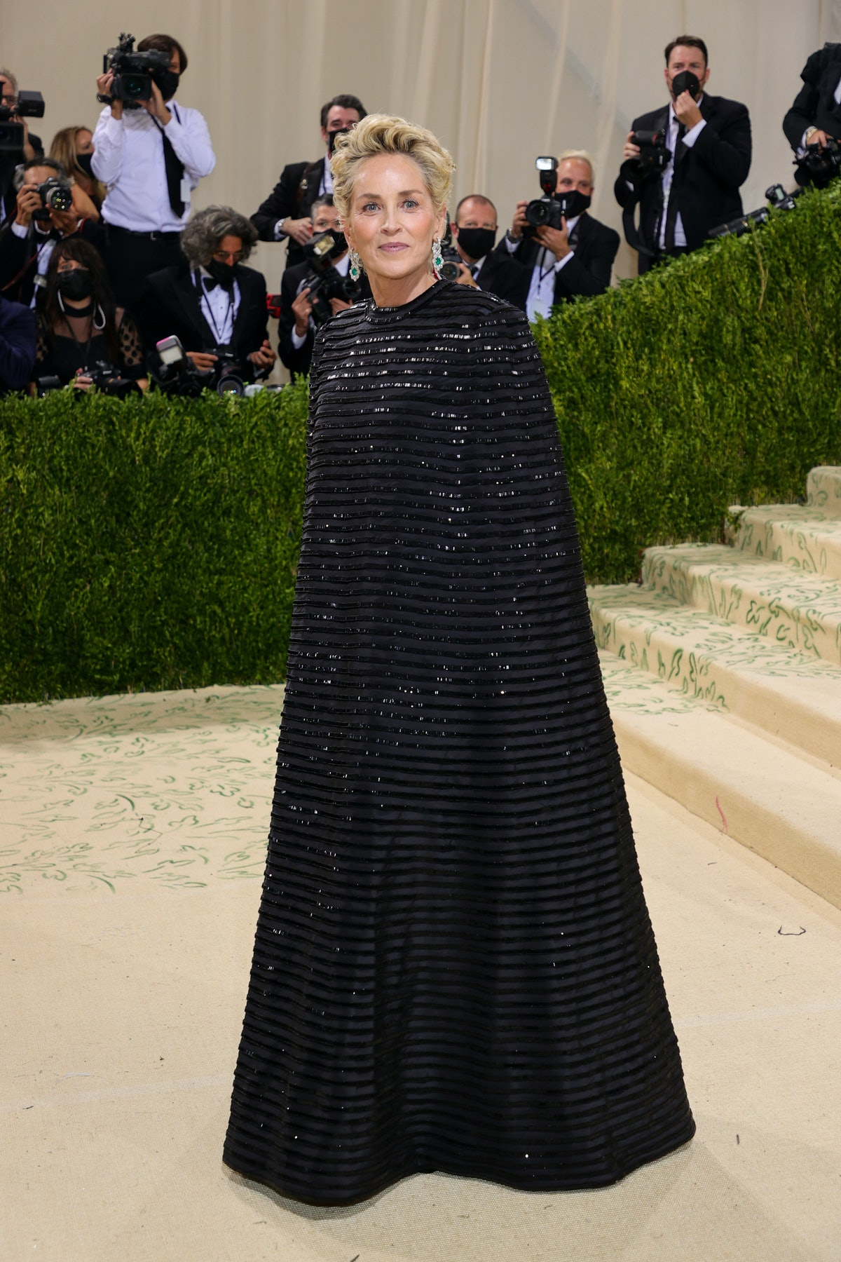 Sharon Stone attends The 2021 Met Gala Celebrating In America: A Lexicon Of Fashion at Metropolitan...