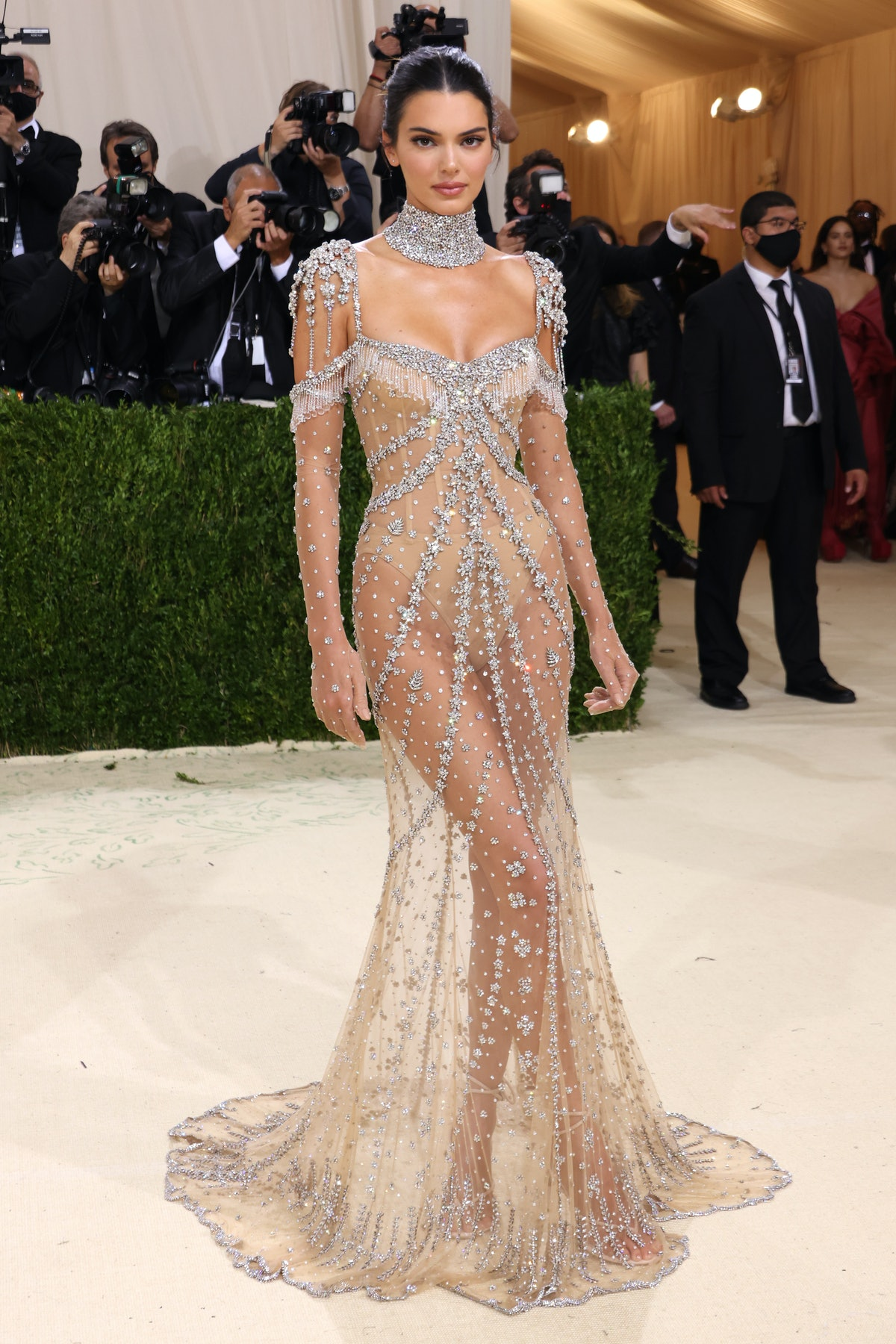 Kendall Jenner attends The 2021 Met Gala Celebrating In America: A Lexicon Of Fashion at Metropolit...