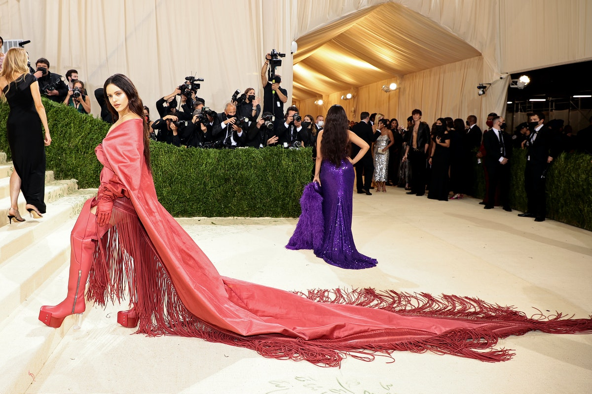 Rosalía attends The 2021 Met Gala Celebrating In America: A Lexicon Of Fashion at Metropolitan Muse...