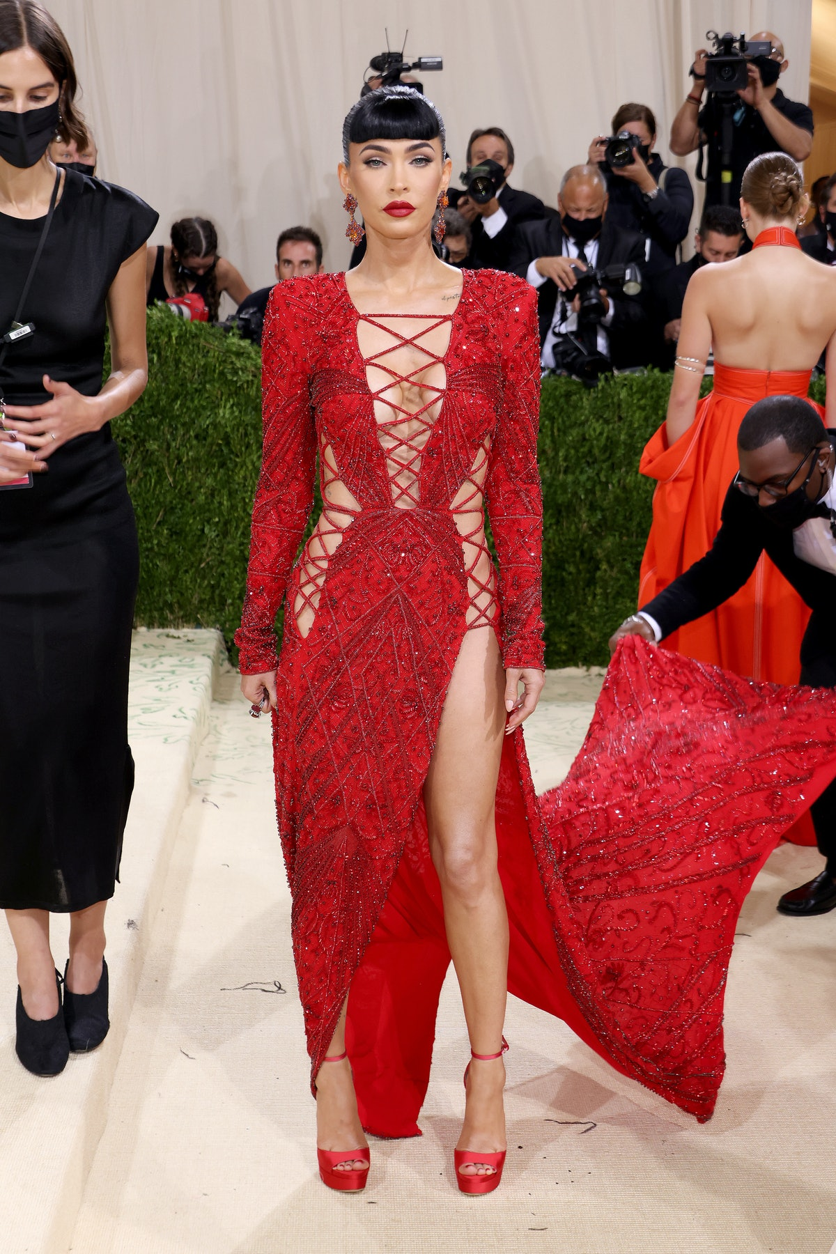 Megan Fox attends The 2021 Met Gala Celebrating In America: A Lexicon Of Fashion at Metropolitan Mus...