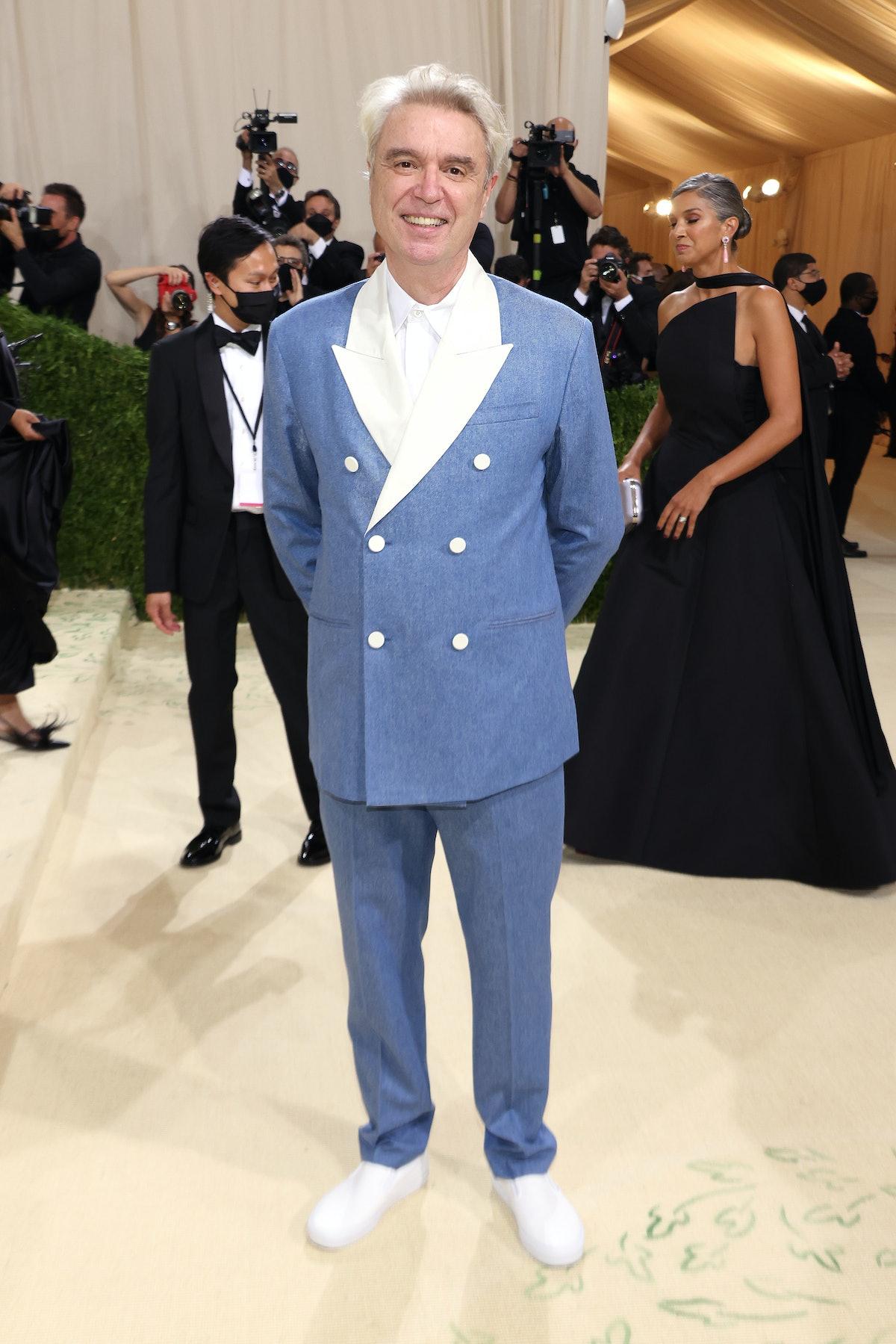 دیوید برن در The Met 2021 Celebrating In America: A Lexicon of Fashion در Metropolitan M شرکت کرد ...