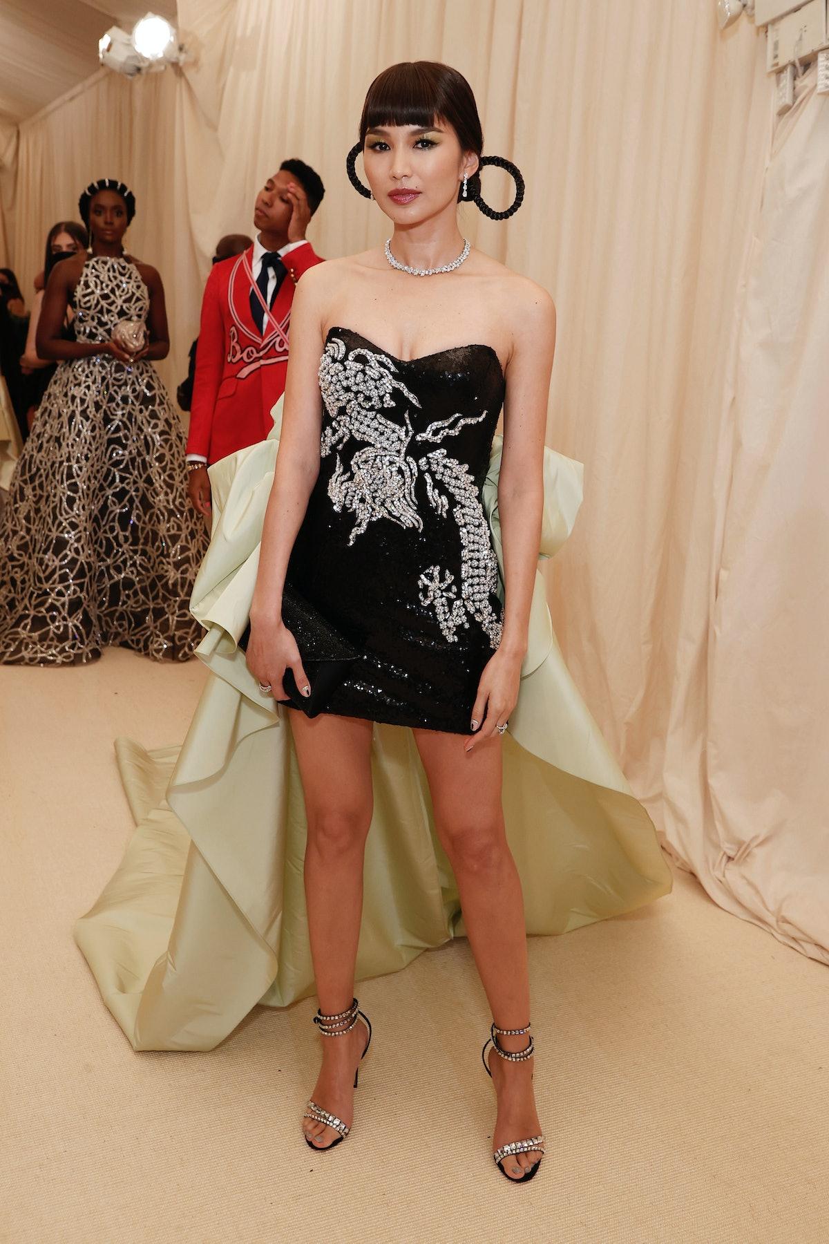جما چان در The Met 2021 Celebrating In America: A Lexicon of Fashion در Metropolitan Mu شرکت کرد ...