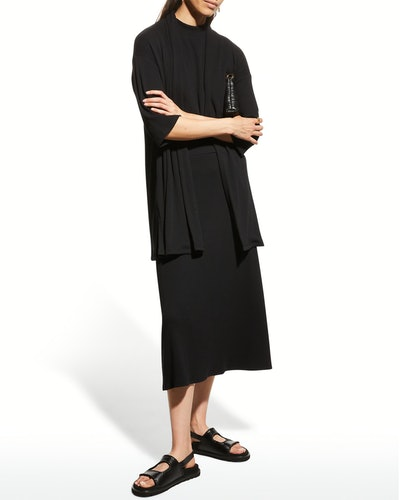 Eileen Fisher Rib-Knit A-Line Skirt