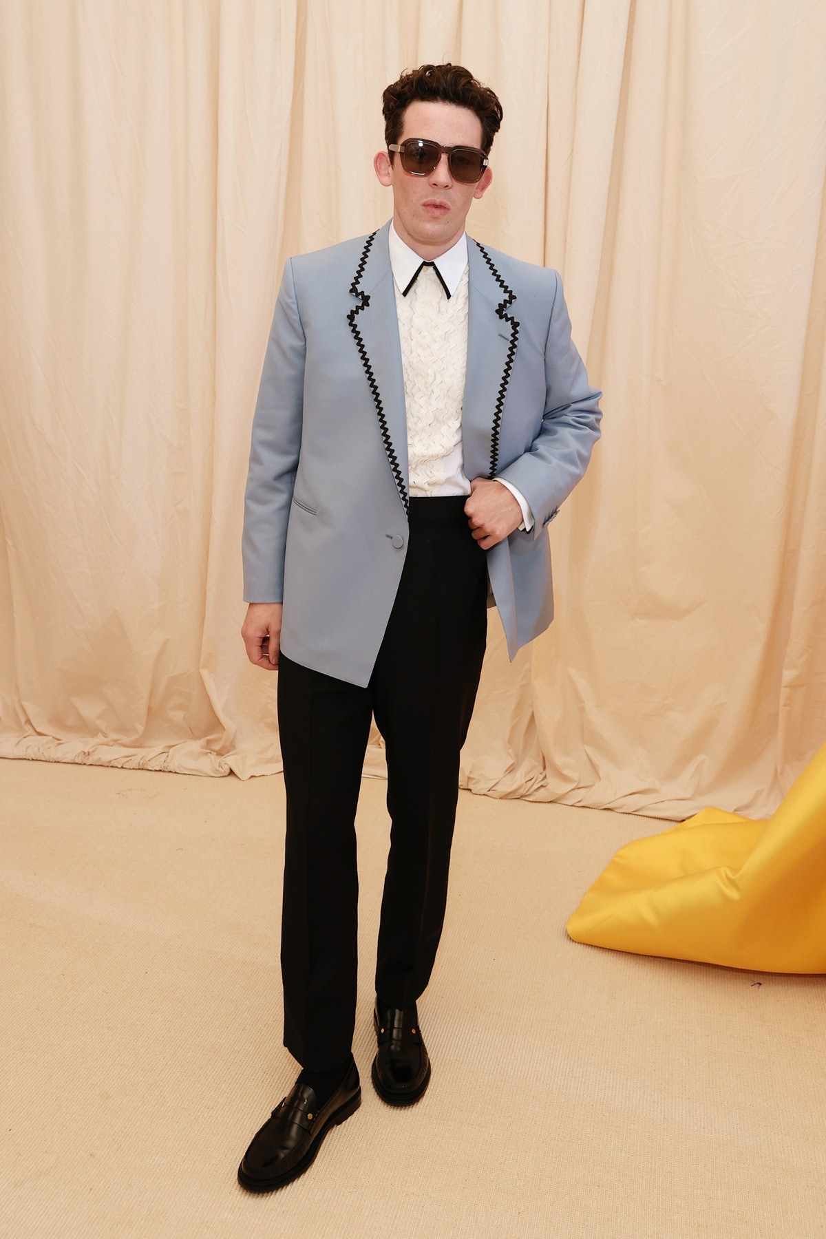 Josh O'Connor attends The 2021 Met Gala Celebrating In America: A Lexicon Of Fashion at Metropolitan...