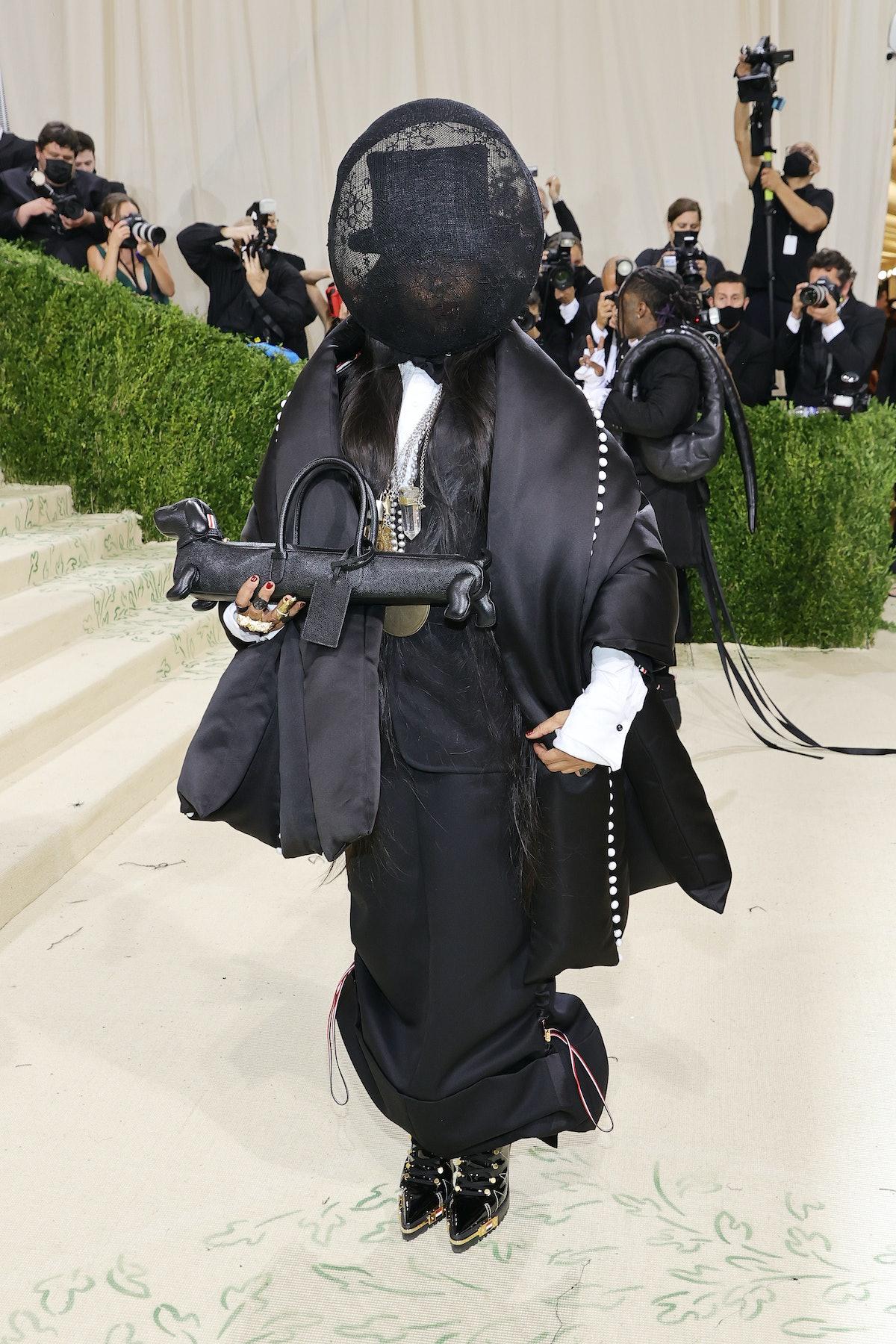 Erykah Badu attends The 2021 Met Gala Celebrating In America: A Lexicon Of Fashion at Metropolitan M...