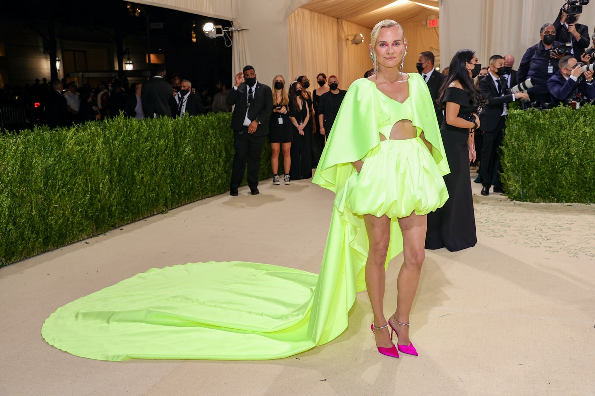 Diane Kruger attends The 2021 Met Gala Celebrating In America: A Lexicon Of Fashion at Metropolitan ...