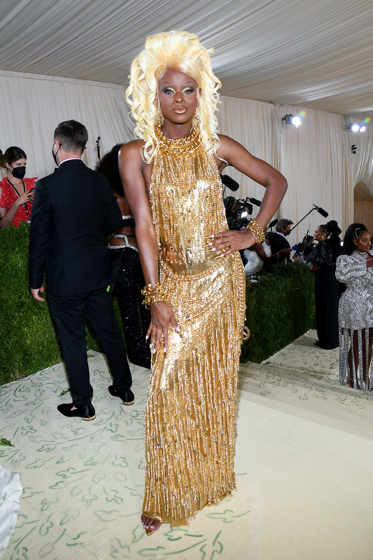 Symone attends The 2021 Met Gala Celebrating In America: A Lexicon Of Fashion at Metropolitan Museum...