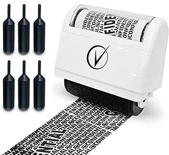 Identity Protection Roller Stamps Wide Kit