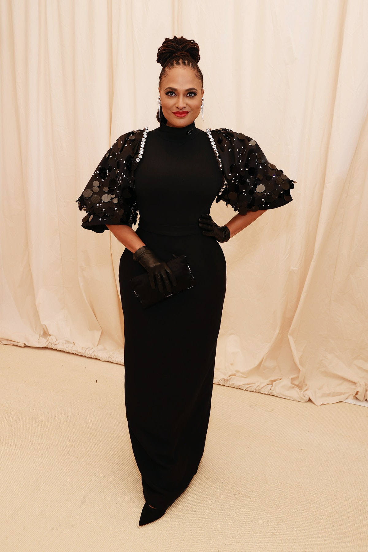 Ava DuVernay attends The 2021 Met Gala Celebrating In America: A Lexicon Of Fashion at Metropolitan...