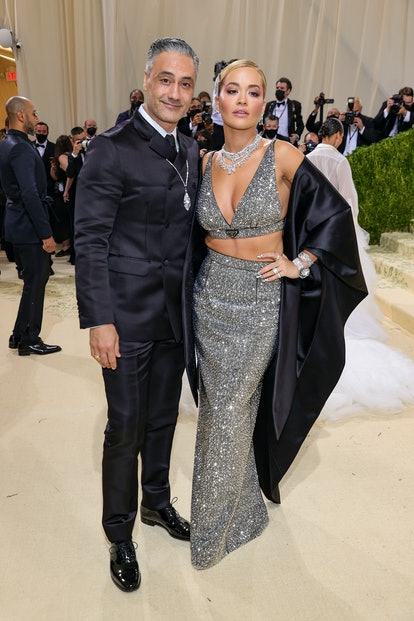 Taika Waititi and Rita Ora attend The 2021 Met Gala.