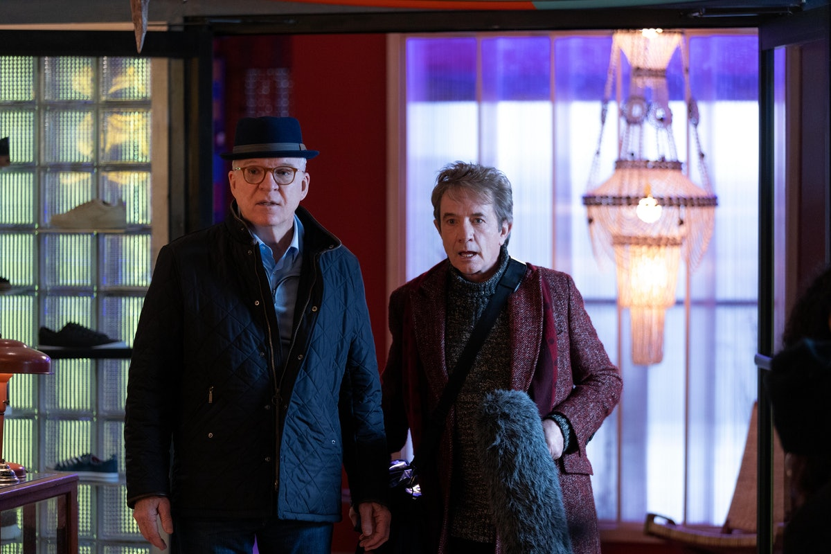 Charles (Steve Martin) and Oliver (Martin Short) in Tavo's shop in 'Only Murders In the Building'