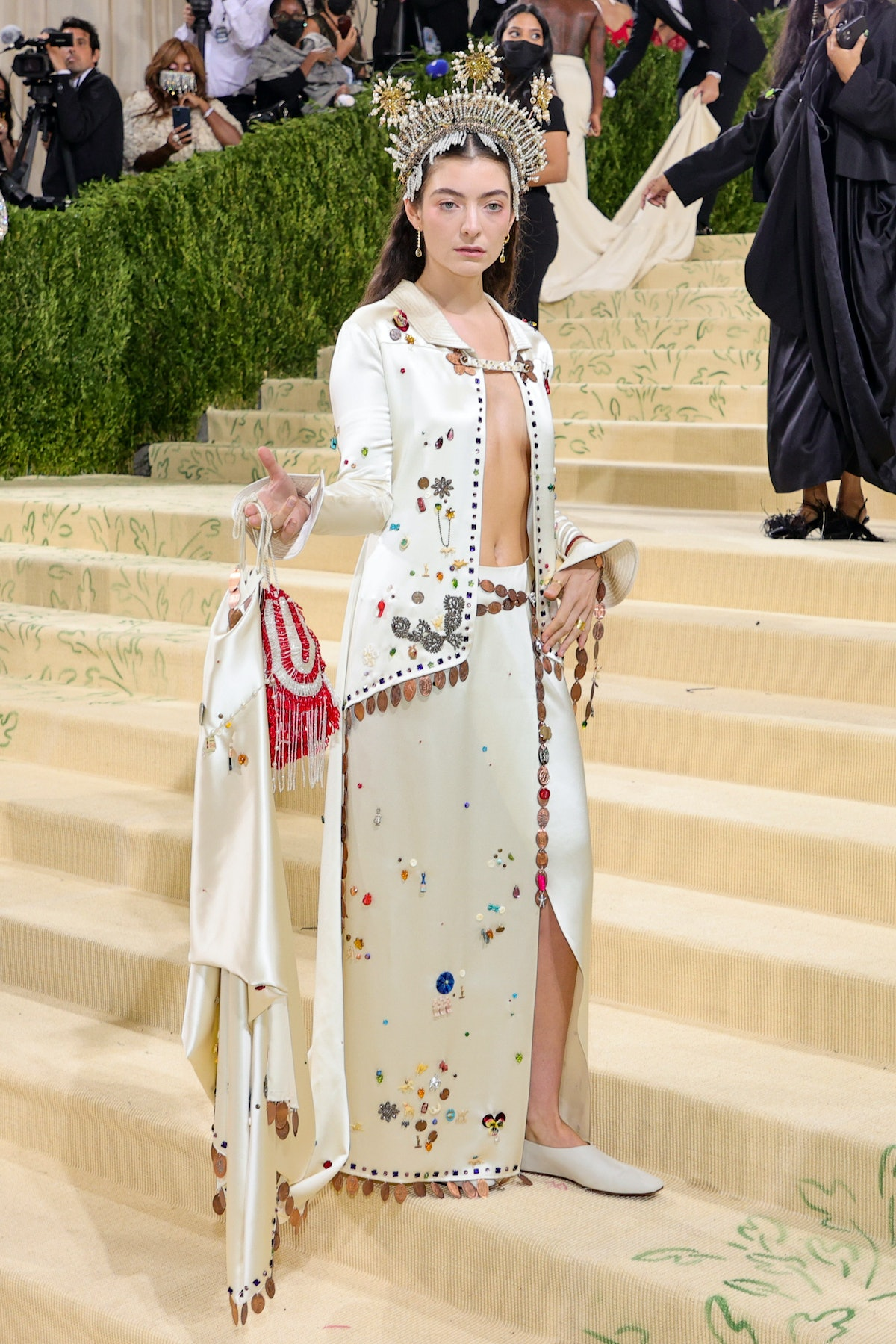 Lorde attends The 2021 Met Gala Celebrating In America: A Lexicon Of Fashion at Metropolitan Museum...