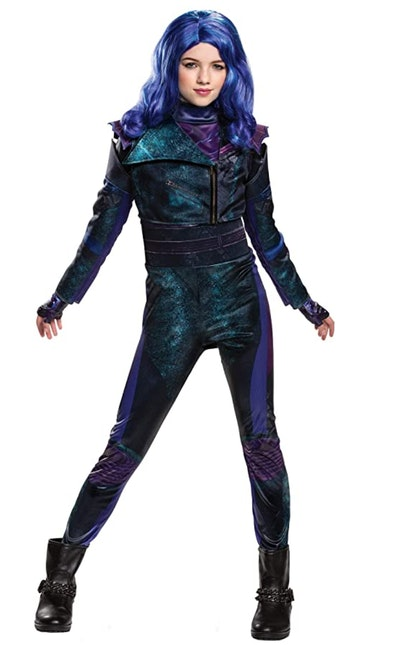 "Girl posing in Mal costume from ""Descendants"""