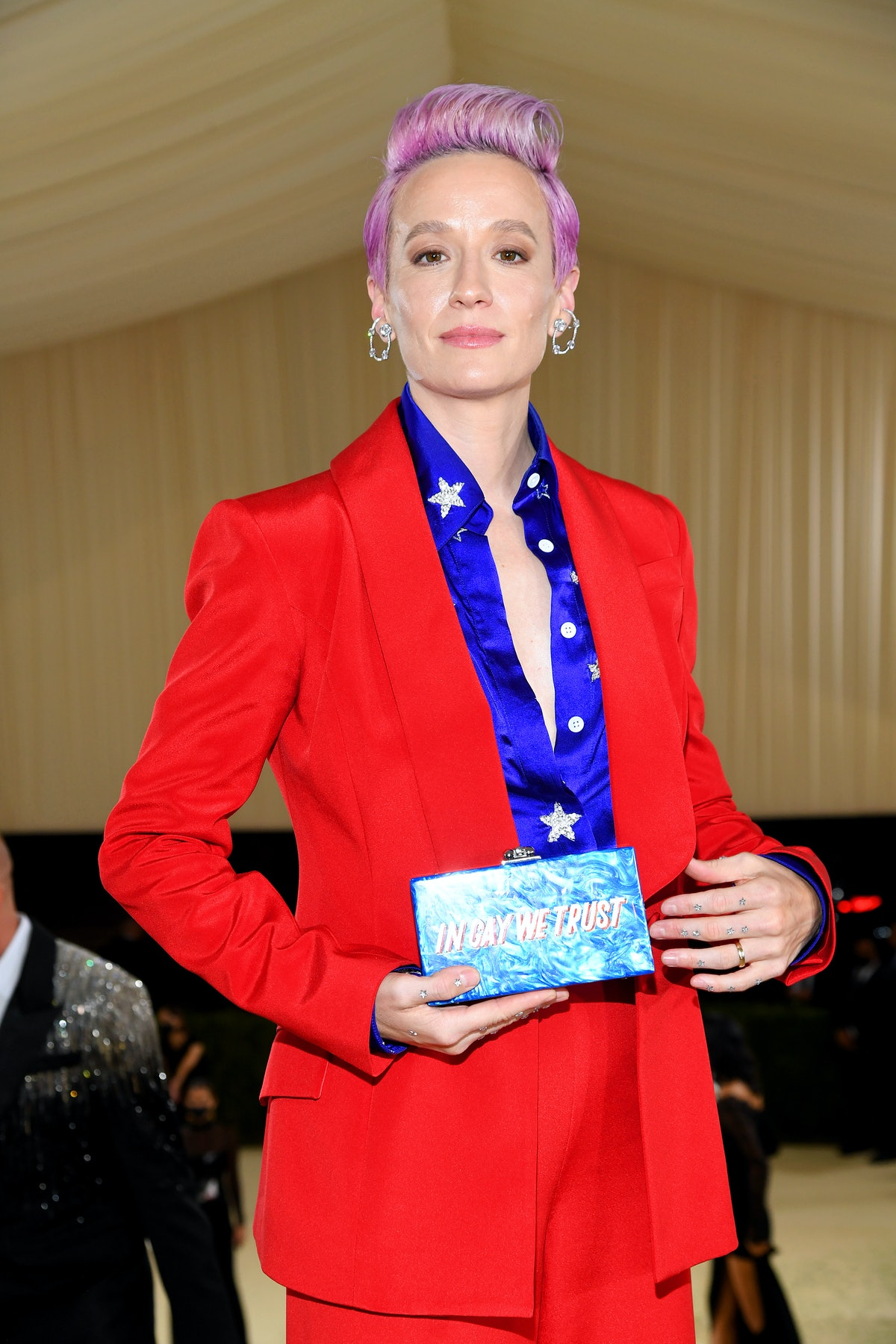 Megan Rapinoe attends The 2021 Met Gala Celebrating In America: A Lexicon Of Fashion at Metropolitan...