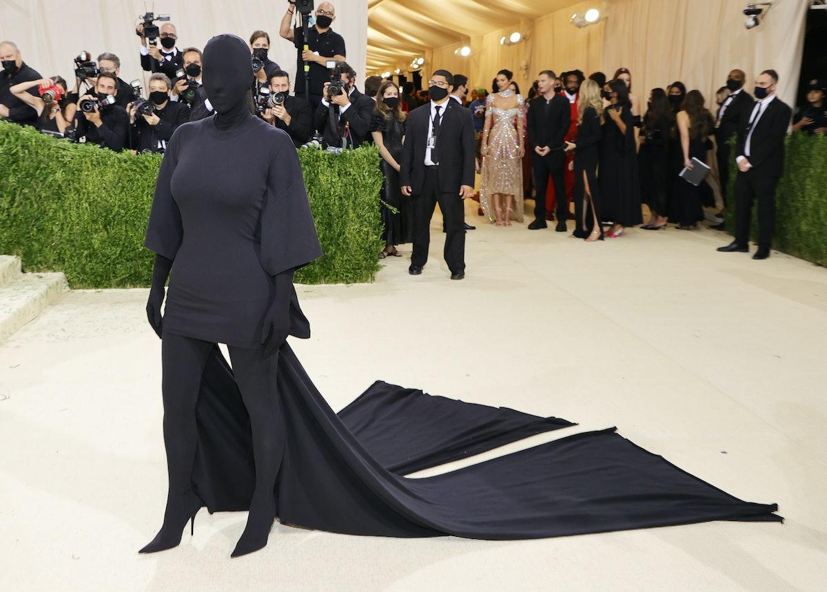 Kim Kardashian attends The 2021 Met Gala Celebrating In America: A Lexicon Of Fashion at Metropolita...