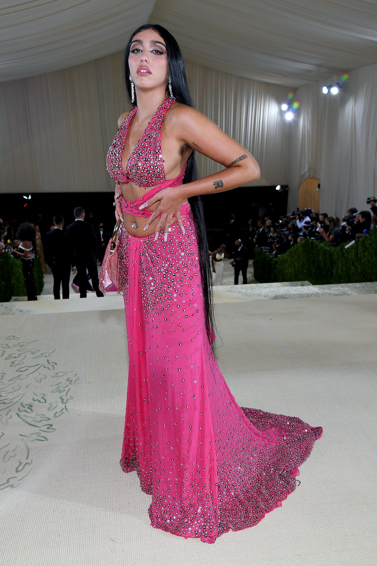 Lourdes Leon attends The 2021 Met Gala Celebrating In America: A Lexicon Of Fashion at Metropolitan...