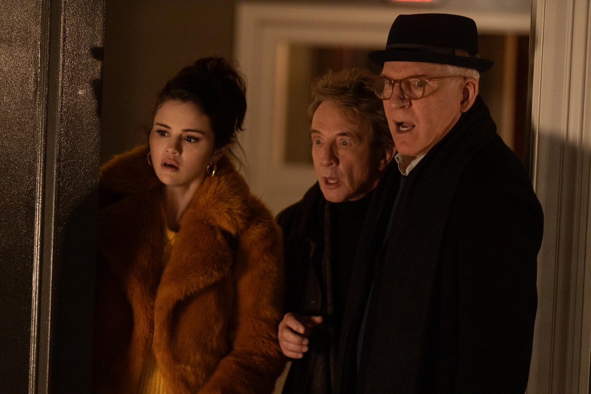 Mabel (Selena Gomez), Oliver (Martin Short) and Charles (Steve Martin) in Only Murders In The Build...