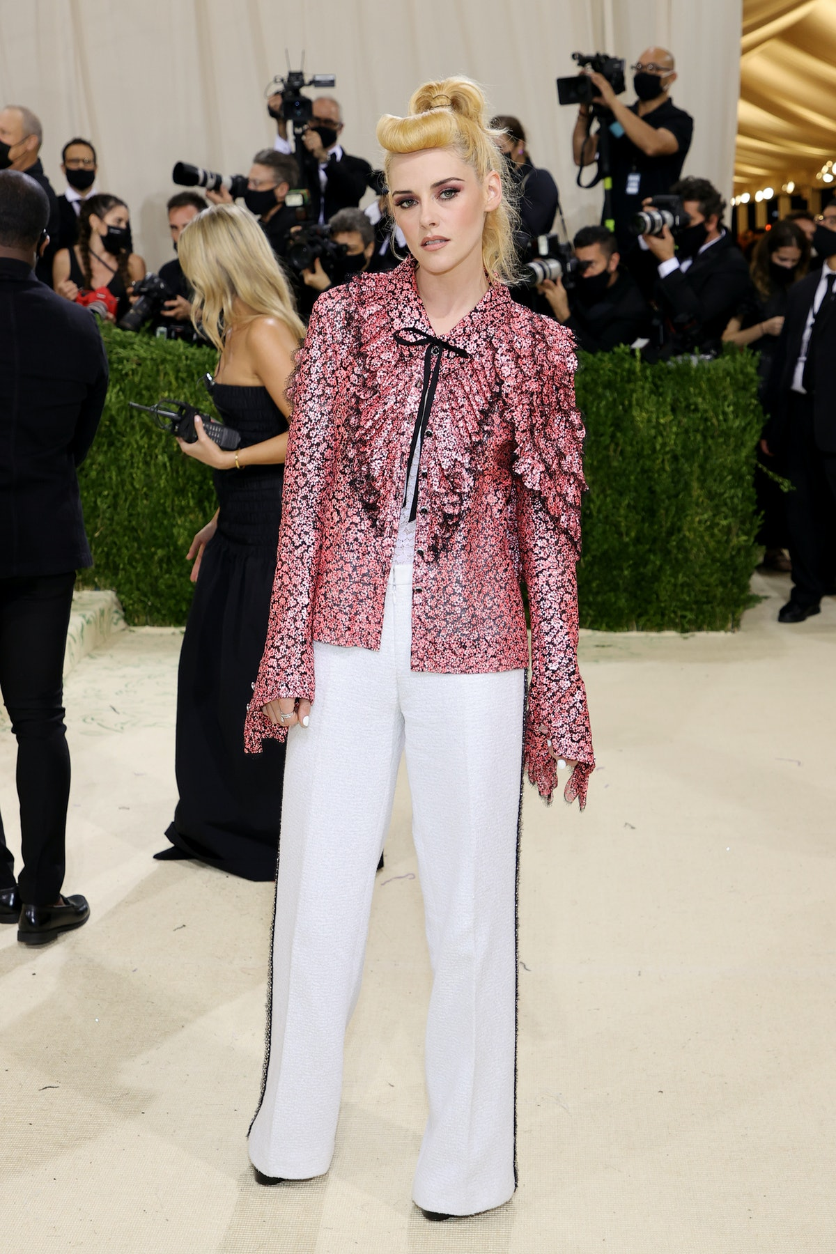 Kristen Stewart attends The 2021 Met Gala Celebrating In America: A Lexicon Of Fashion at Metropolit...