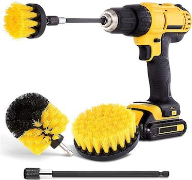 HIWARE Drill Brush Attachment Set (4 Pieces)