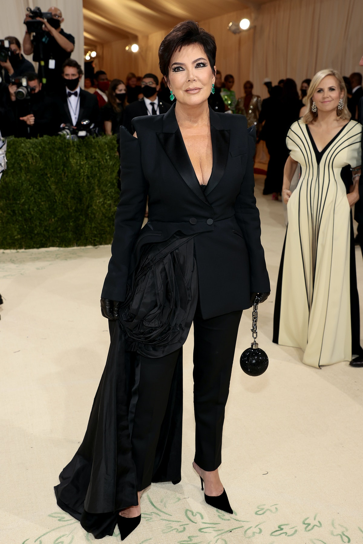 Kris Jenner attends The 2021 Met Gala Celebrating In America: A Lexicon Of Fashion at Metropolitan M...
