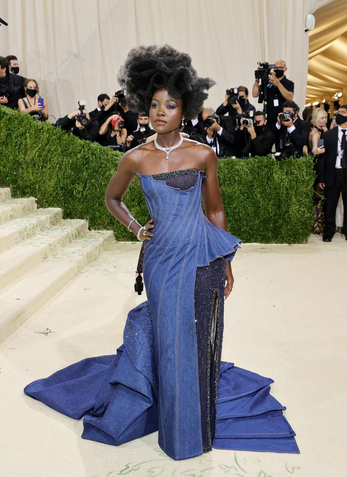 Lupita Nyong'o attends The 2021 Met Gala Celebrating In America: A Lexicon Of Fashion at Metropolita...
