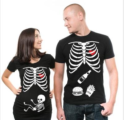 Halloween Maternity Couple Shirts