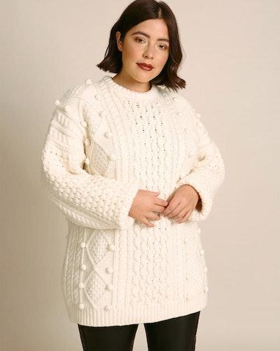 Christopher Kane Plus Size Aran Knit Sweater