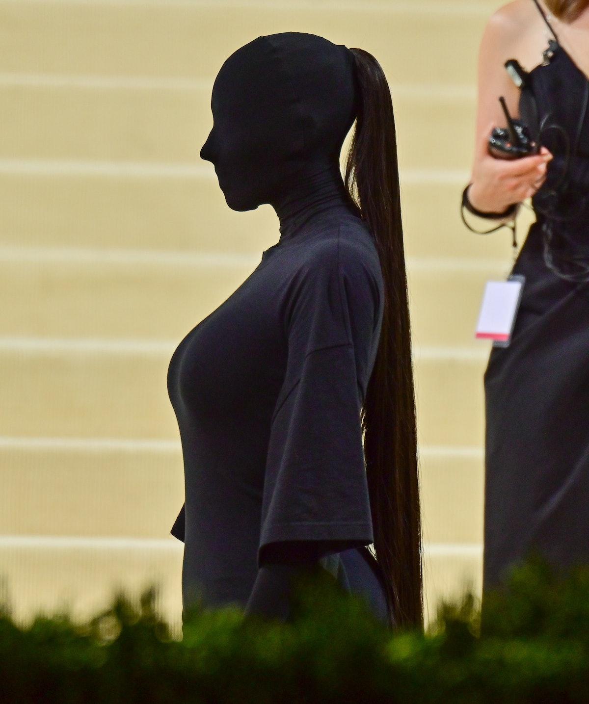 Kim Kardashian arrives to the 2021 Met Gala Celebrating In America: A Lexicon Of Fashion at Metropol...