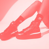 Adidas' Afropunk Forum is an ultra chunky, patent leather platform sneaker
