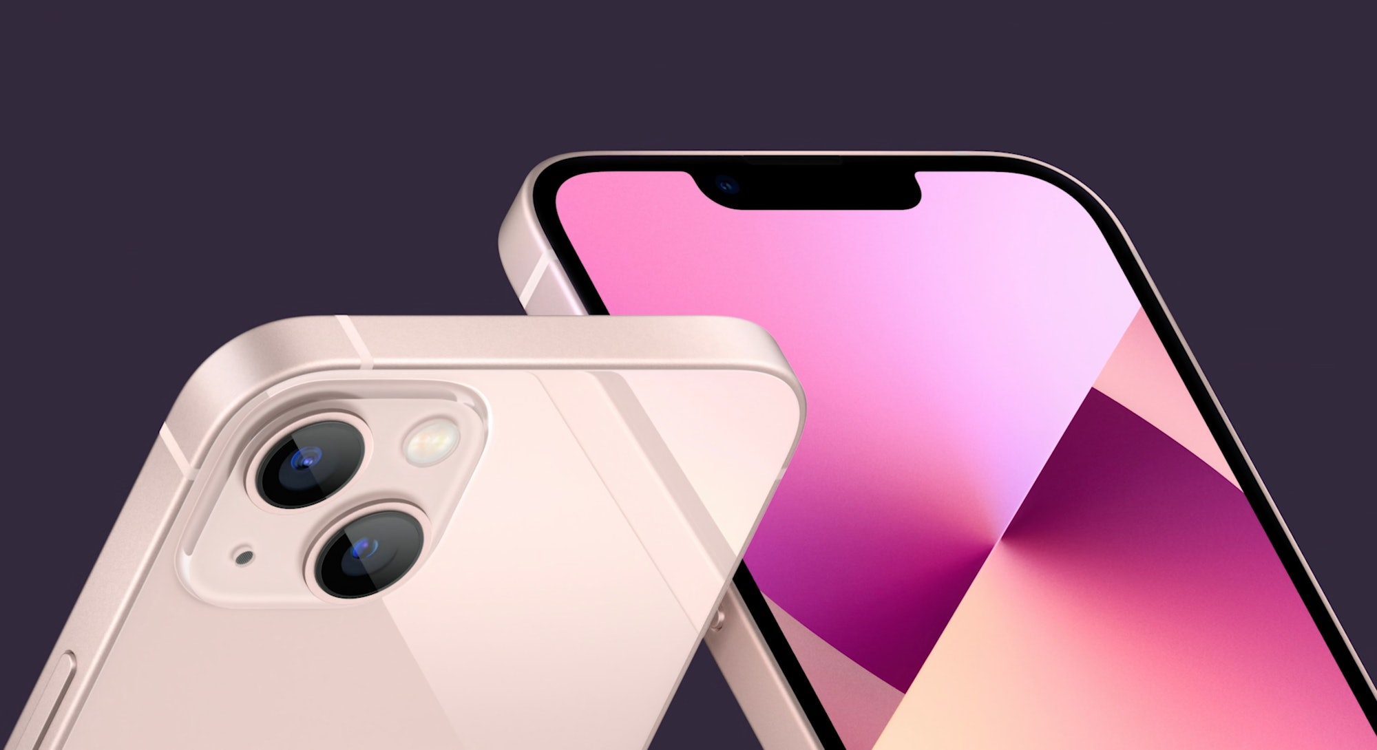iPhone 13 mini and iPhone 13 design in pink