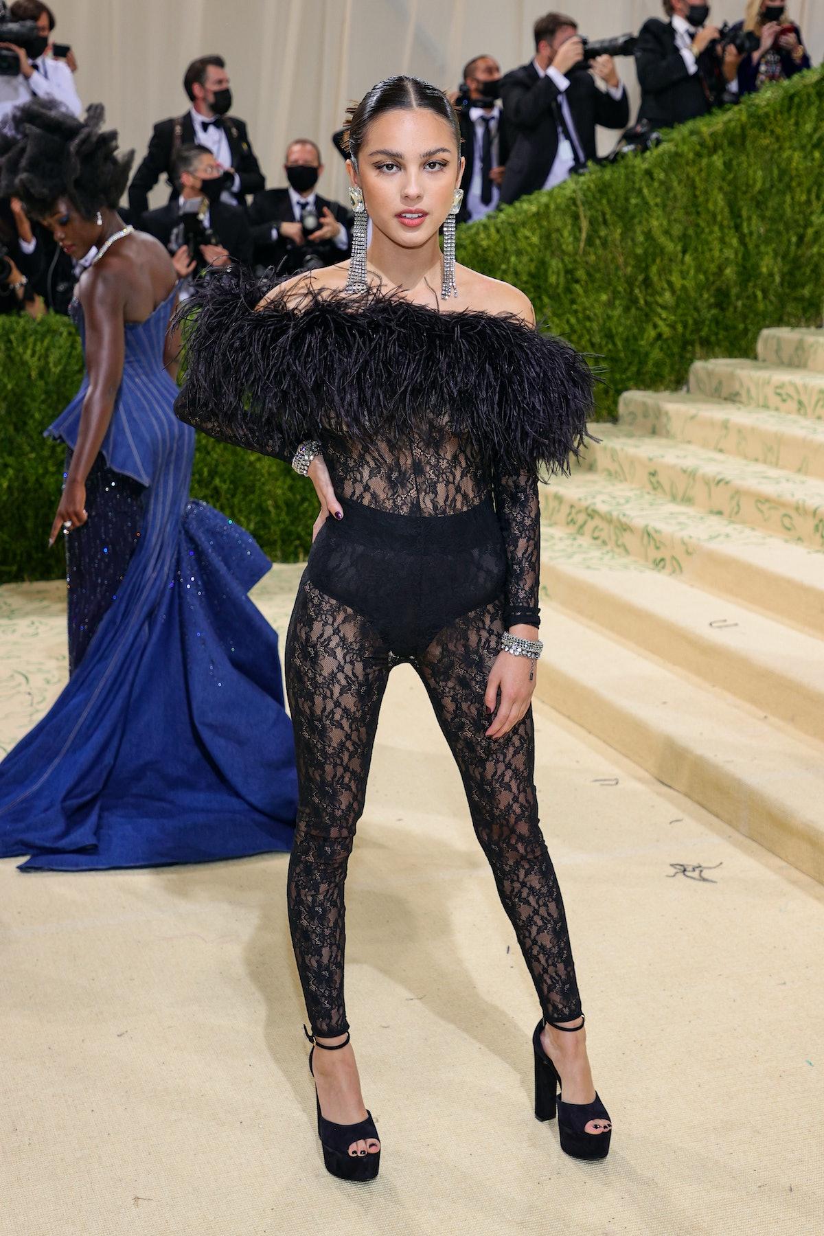 Olivia Rodrigo attends The 2021 Met Gala Celebrating In America: A Lexicon Of Fashion at Metropolita...