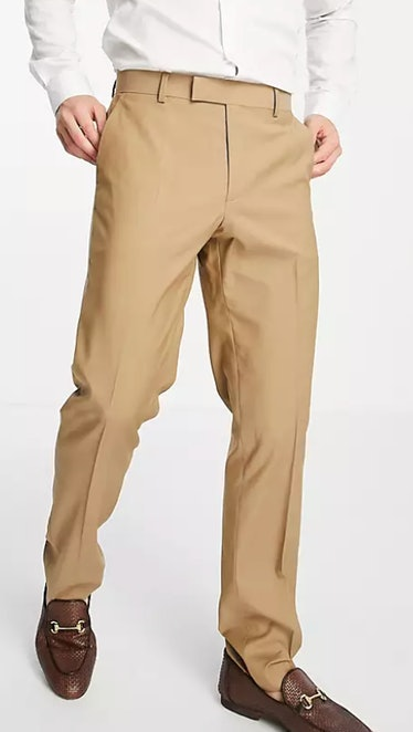 ASOS DESIGN slim suit pants in camel