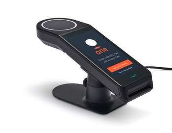 A look at the Amazon One scanner