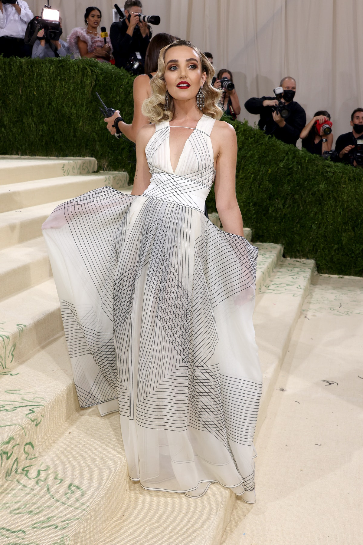 Chloe Fineman attends The 2021 Met Gala Celebrating In America: A Lexicon Of Fashion at Metropolitan...