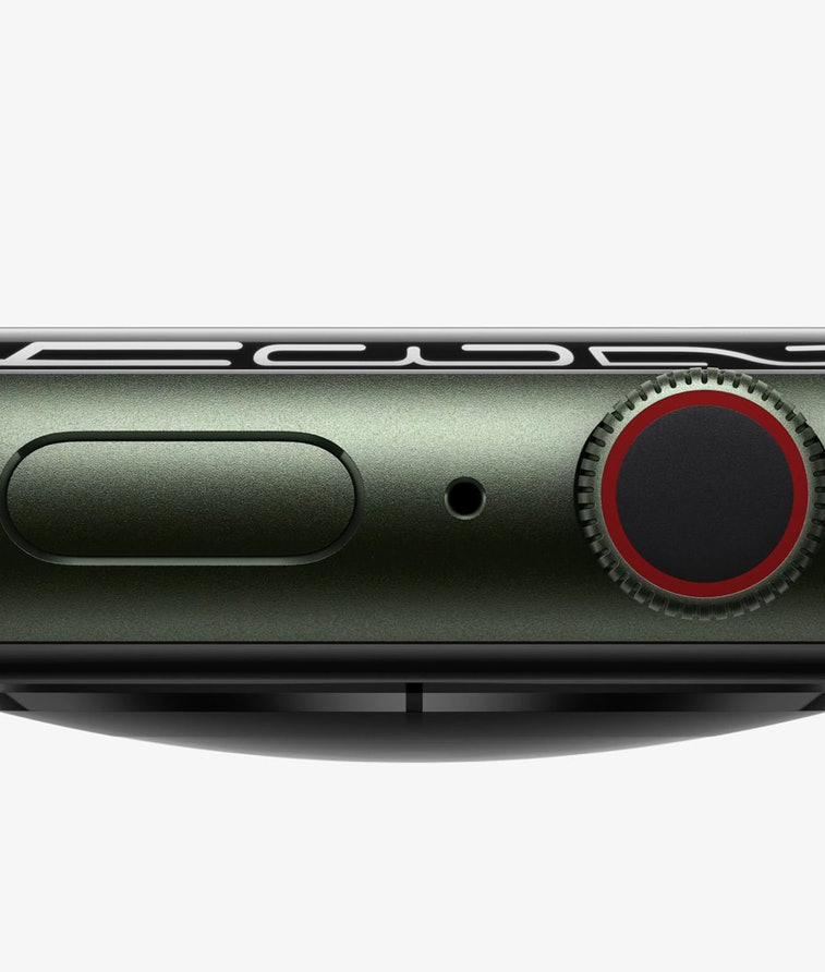 A profile of the Apple Watch Series 7 which is thicker and more durable