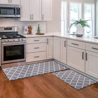 KMAT Cushioned Anti-Fatigue Kitchen Mat (2 Pieces)