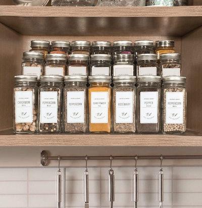 AOZITA Glass Spice Jars with Labels (Set of 24)