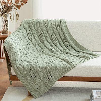 Amélie Home Cable Knit Throw Blanket