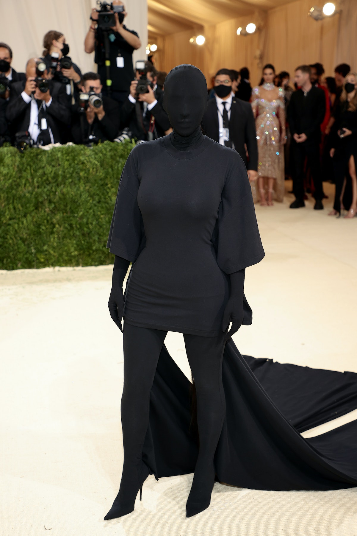 Kim Kardashian West attends The 2021 Met Gala Celebrating In America: A Lexicon Of Fashion at Metrop...