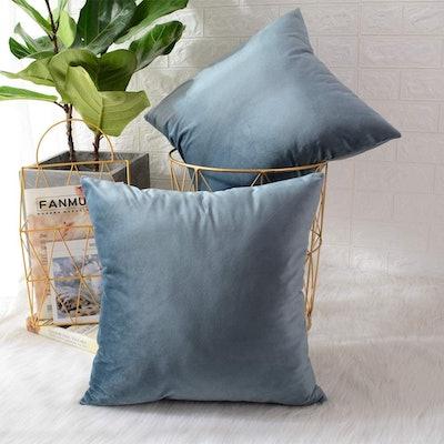 MERNETTE Velvet Throw Pillow Covers (2 Pack)