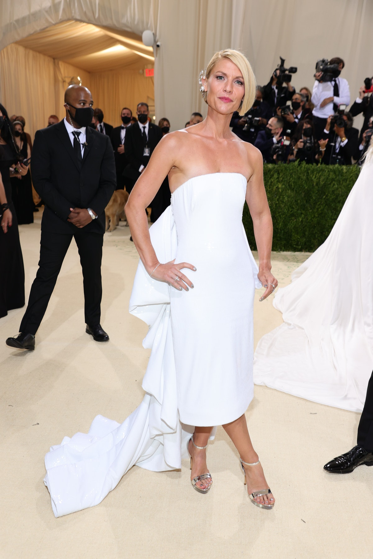 Claire Danes attends The 2021 Met Gala Celebrating In America: A Lexicon Of Fashion at Metropolitan ...