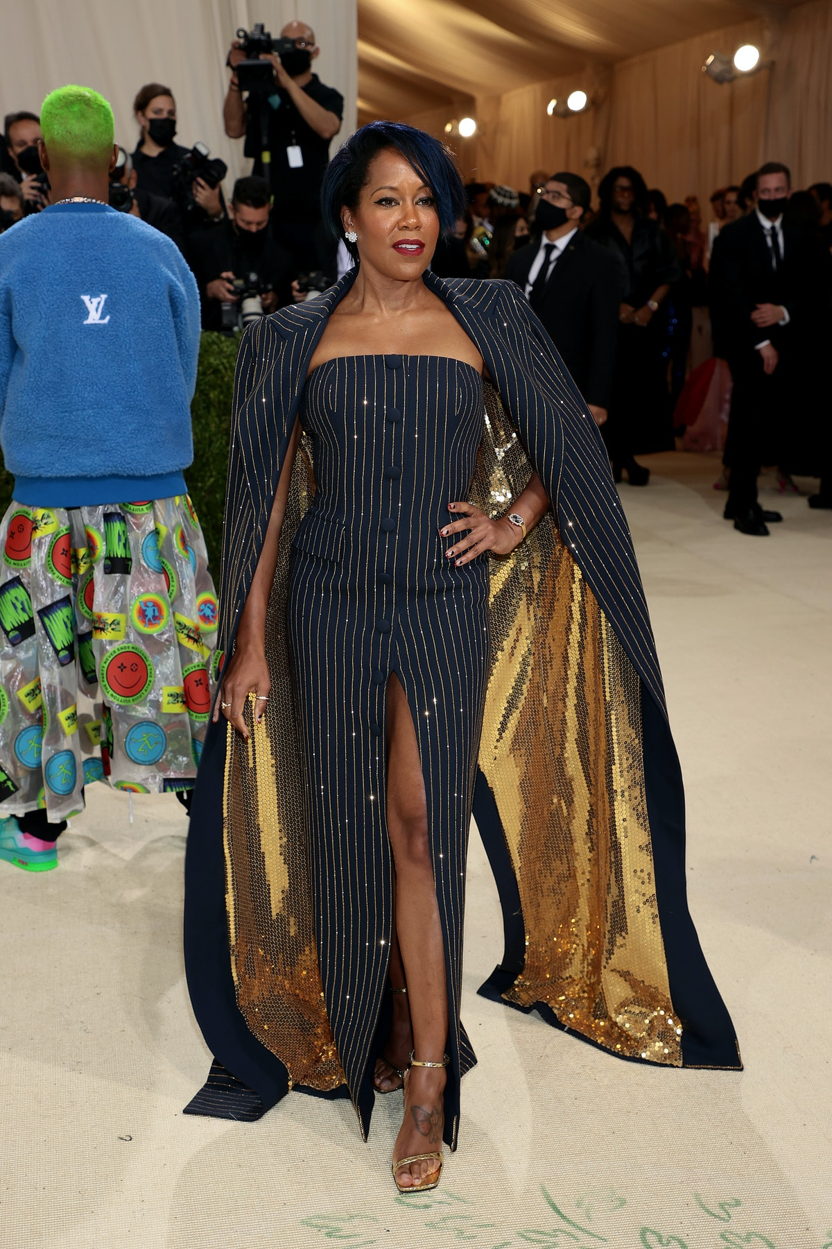Regina King attends The 2021 Met Gala Celebrating In America: A Lexicon Of Fashion at Metropolitan M...