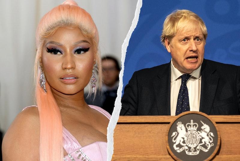 Nicki Minaj and Boris Johnson