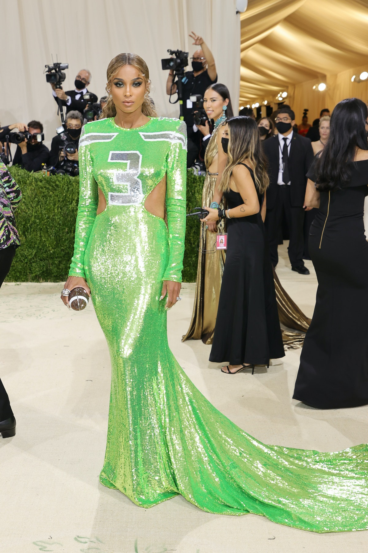 Ciara attends The 2021 Met Gala Celebrating In America: A Lexicon Of Fashion at Metropolitan Museum ...