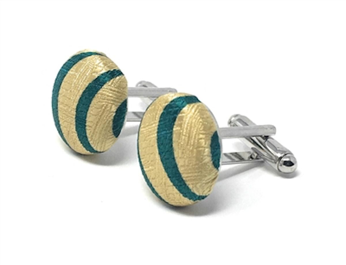 AFRO 100% Silk Handmade Cufflinks