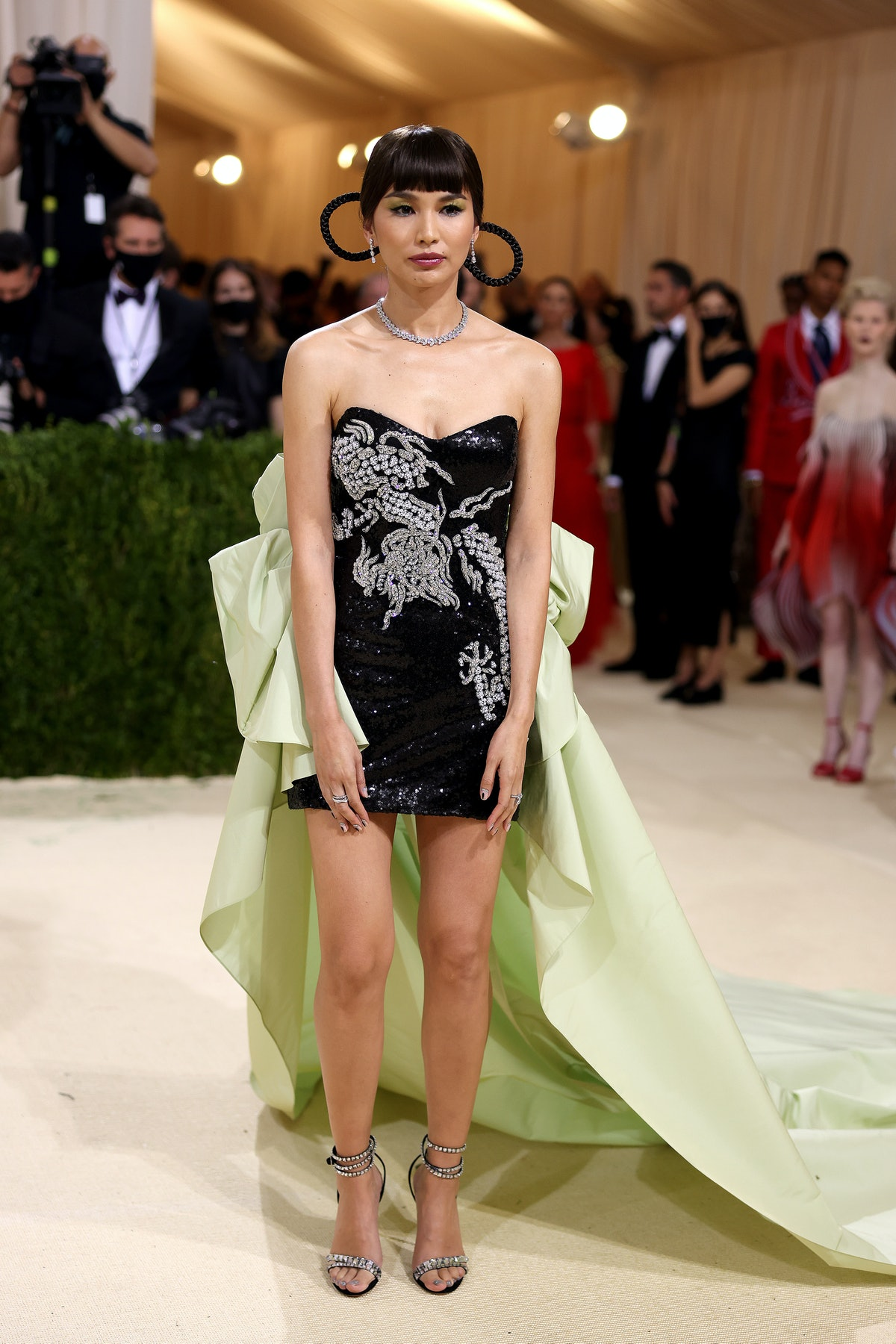 Gemma Chan attends The 2021 Met Gala Celebrating In America: A Lexicon Of Fashion at Metropolitan Mu...