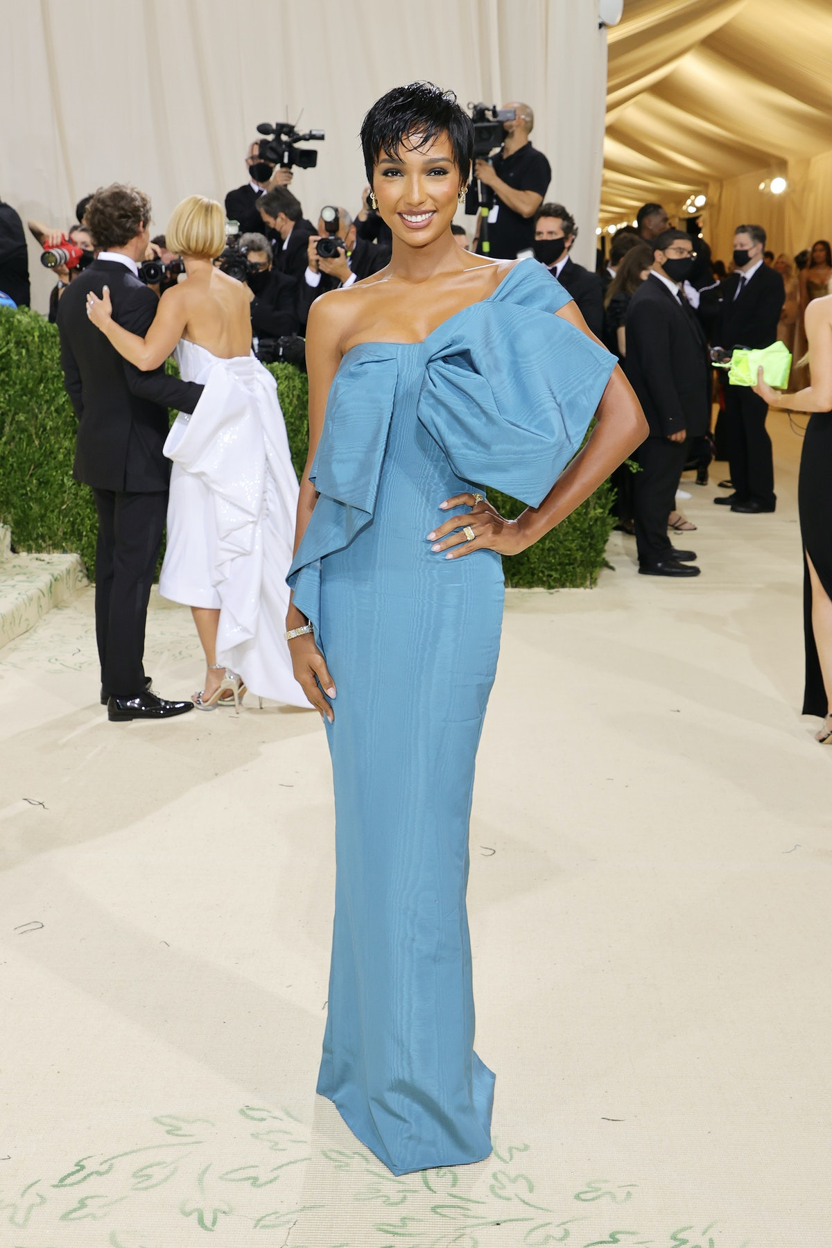 Jasmine Tooks attends The 2021 Met Gala Celebrating In America: A Lexicon Of Fashion at Metropolitan...