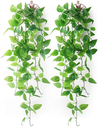 Mocoosy Artificial Hanging Plants (2-Pack)